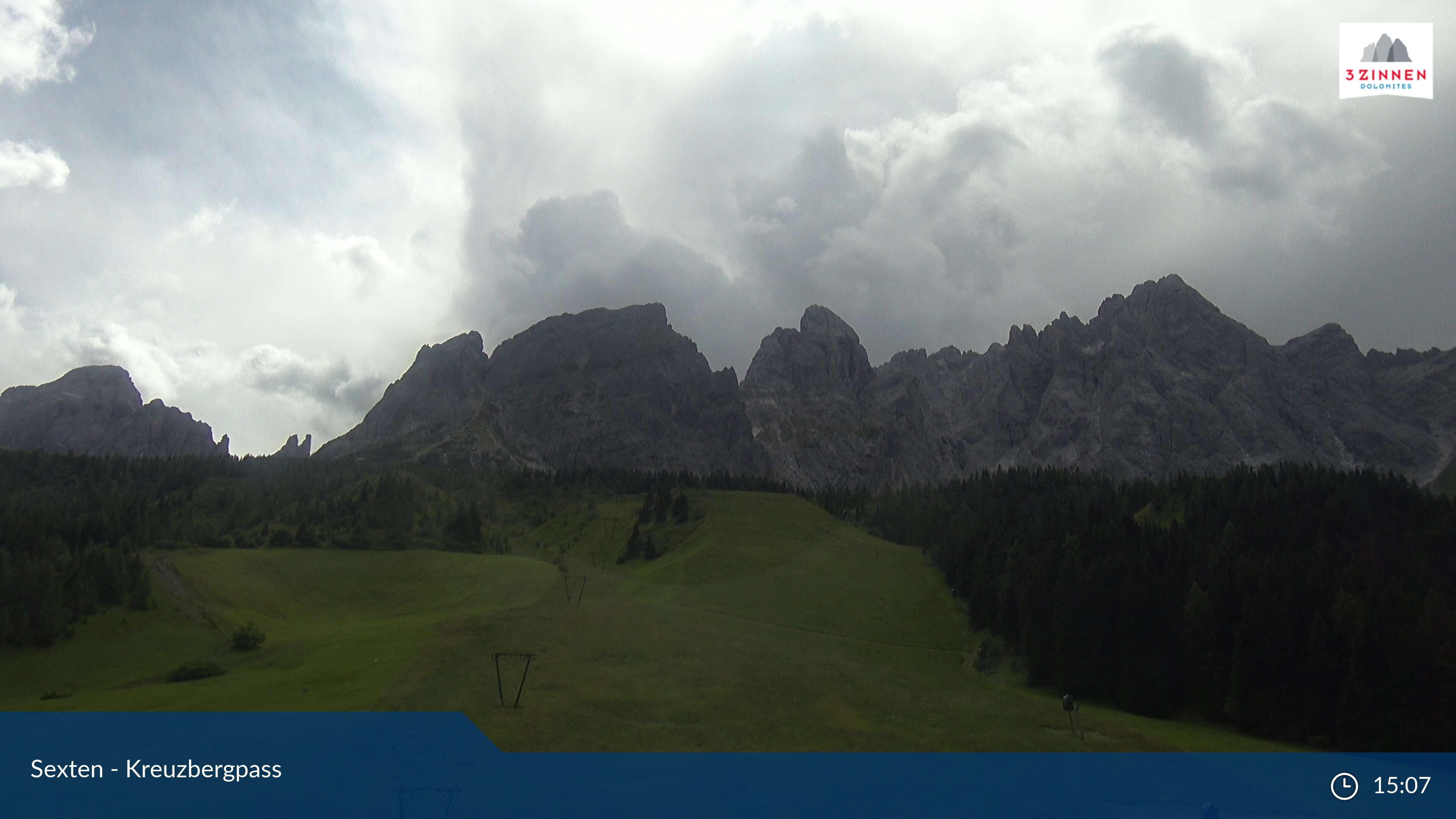 Webcam Passo Monte Croce - Comelico, Tre Cime Dolomiti