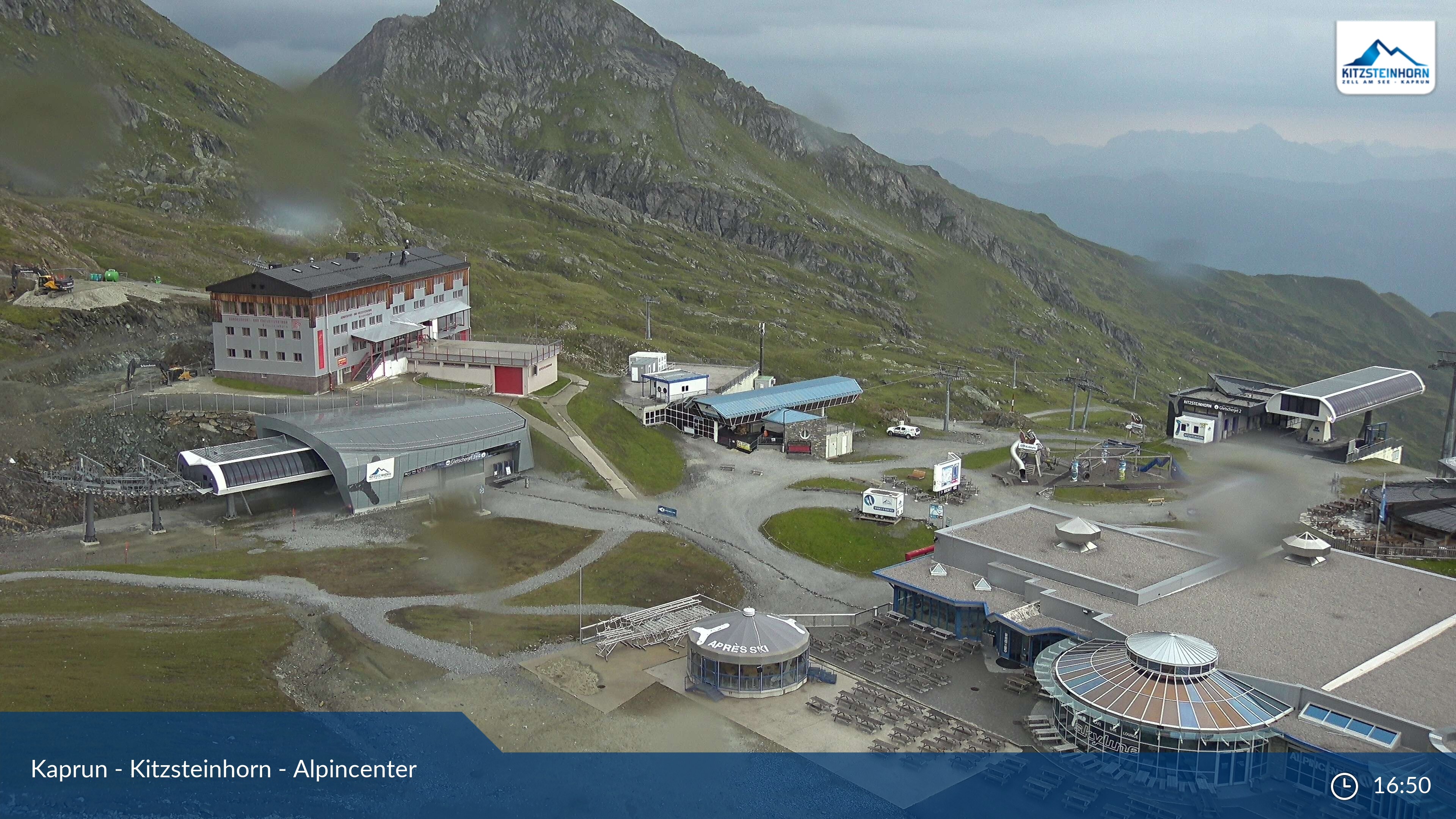 Kaprun-Kitzsteinhorn webcam - Alpin center 2.500 m