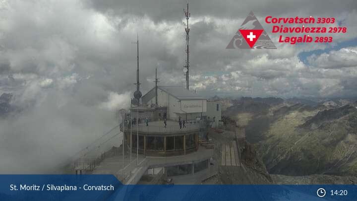 Webcam Sankt Moritz Silvaplana Corvatsch