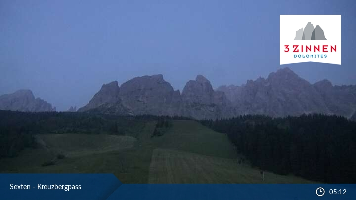 Webcam at the Passo Monte Croce in Sesto